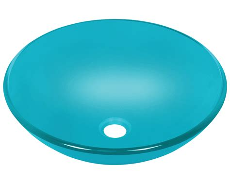 turquoise glass vessel sink