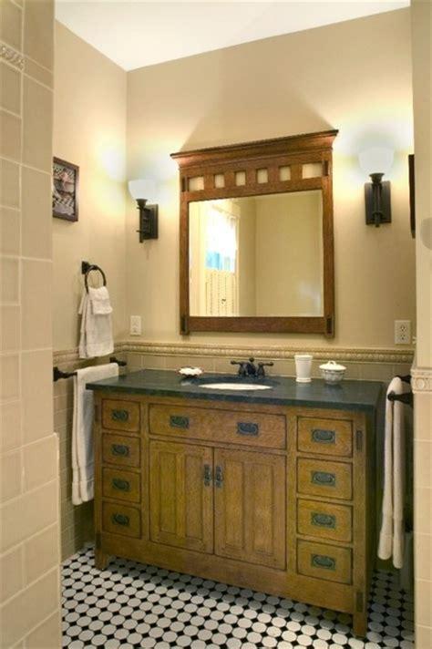 arts crafts bathroom
