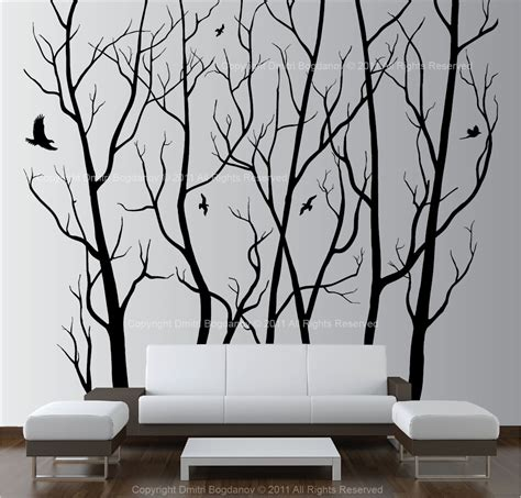 tree wall decor stickers large wall decor vinyl tree forest decal sticker