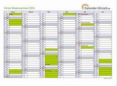 Ferien Niedersachsen 2016 Ferienkalender zum Ausdrucken