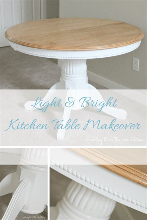 kitchen table makeover light bright kitchen table makeover it in the 3226