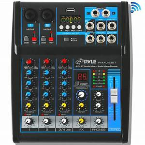 Pyle - Pmxu43bt - Musical Instruments - Mixers - Dj Controllers - Sound And Recording
