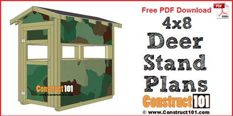 Take a sneak peak at the movies coming out this week (8/12) mondays at the movies: Deer Stand Plans - 4x8 - Free PDF Download - Construct101