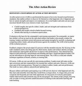 after action review template 7 download documents in With aar format template