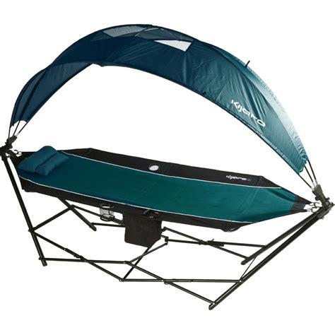 folding umbrella kijaro portable hammock with canopy and cooler the