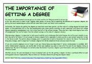 The Importance Of Getting A Degree