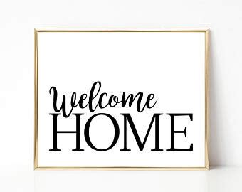 welcome home interiors welcome home print etsy