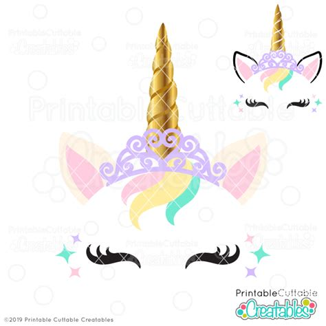 Almost files can be used for commercial. Princess Unicorn Face Free SVG File - Free SVGs for ...