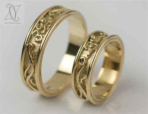 handmade gold wedding rings and beautiful engagement rings