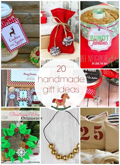 20 handmade gift ideas link party features i heart nap