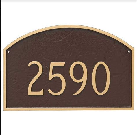 address plate custom house number sign select size  color