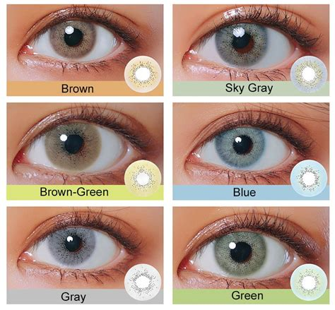 looking colored contacts selling series 6 colors looking
