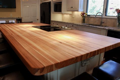 butcher block tops for kitchen islands hickory kitchen countertops j aaron 9343