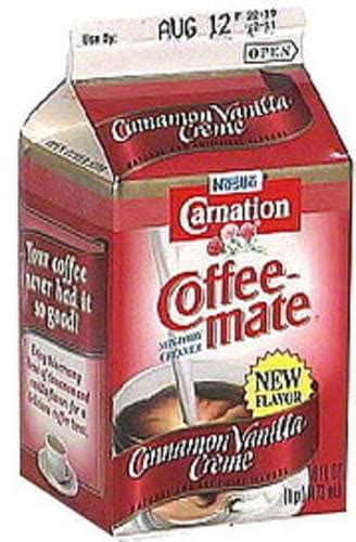 Take note of the serving. Coffee Mate Cinnamon Vanilla Creme Non-Dairy Creamer - 16 oz, Nutrition Information | Innit