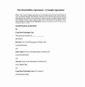 simple shareholders agreement template 11 shareholder With simple shareholders agreement template