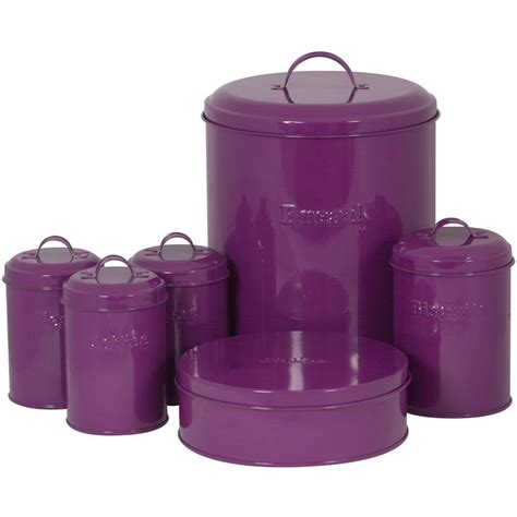 Purple Kitchen Canister Sets by Sabichi 6 Carbon Steel I Am A Canister Set Purple
