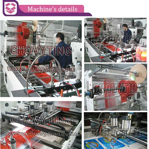 plastic cutting machine  poly courier bag  pouchhot air sealing plastic dhl bag making