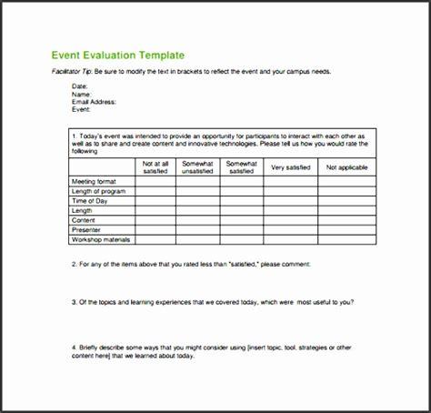 Evaluation Form For Social Service Programs