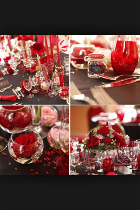 idee deco table deco mariage rouge deco mariage rouge