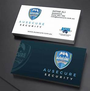 ausecure security bc dsigns australia With business card design sydney