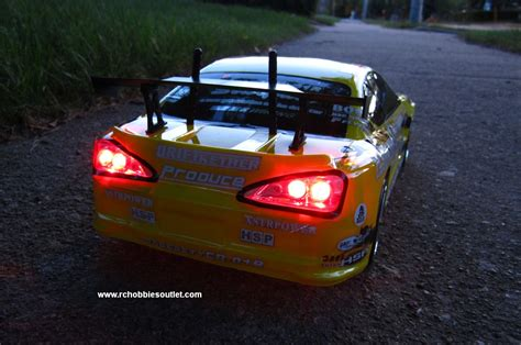 Rc Electric Drift Car With 8 Lights Radio Control 2.4g Rtr