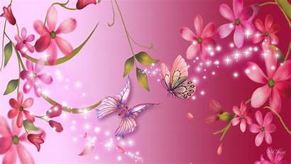Bright Pink Backgrounds Wallpapers 3d Flowers Abstract
