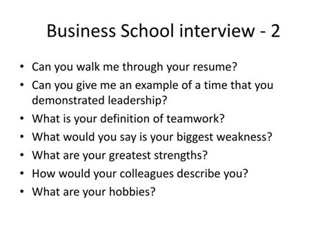 Walk Me Through Your Resume Mba by Ppt Grad Schools Powerpoint Presentation Id 2992422