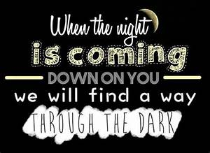 Through the dark, One Direction | Lyrics | Pinterest