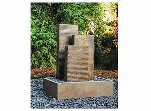 vente unique promo fontaine de jardin ismaelia en ardoise for fontaine exterieure de jardin moderne - Fontaine De Jardin Moderne