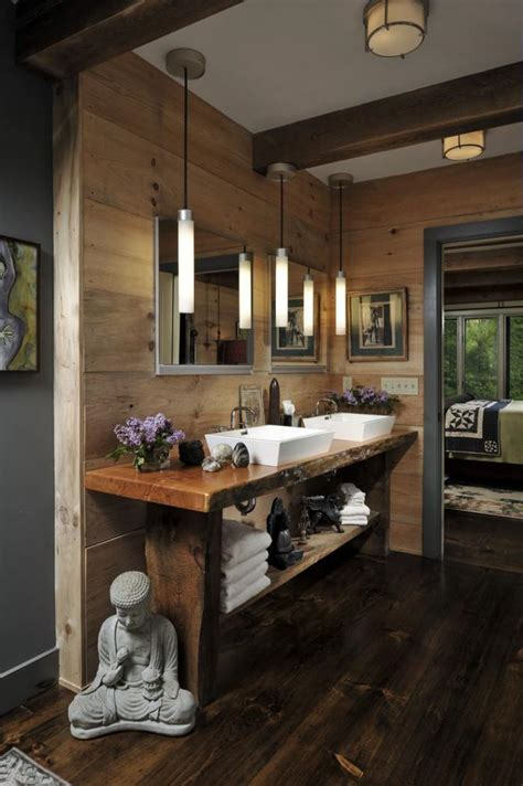 les beaux exemples de salle de bain rustique