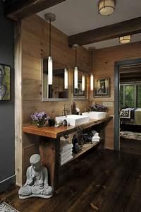 Salle De Bain En Bois : salle de bain rustique bois ~ Dailycaller-alerts.com Idées de Décoration