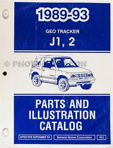 1992 Geo Tracker Repair Shop Manual Original
