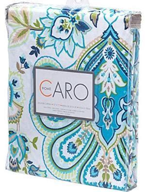 curtain inspiration orange white damask with aqua trim