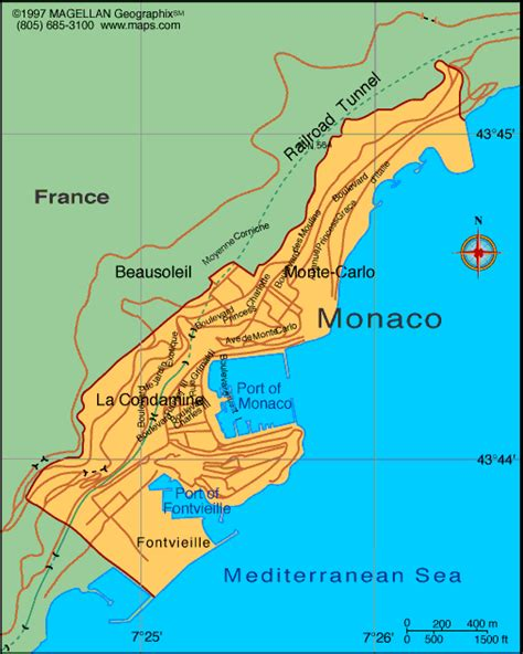 monaco map infoplease