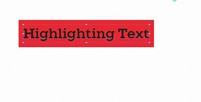 Text Highlighting Adobe Illustrator Highlighted Box Effect