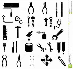 Tools - vector icons stock vector Illustration of ruler