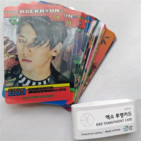 exo transparent 25 photocards the war power of music