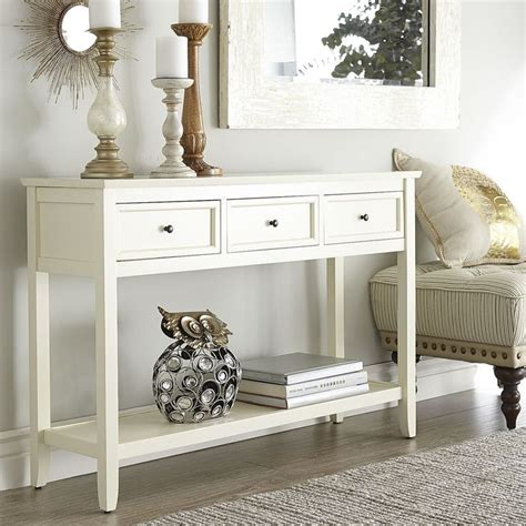 white entry table with drawers antique white console table smooth classic and tables