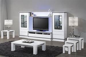Meuble Tv Vitrine : meuble salon laqu blanc simple ensemble salle a manger blanc laque with meuble salon laqu blanc ~ Teatrodelosmanantiales.com Idées de Décoration