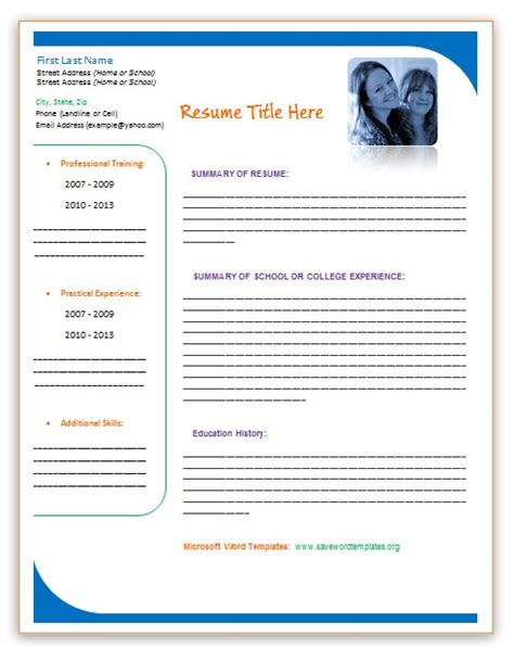 free professional chronological resume template