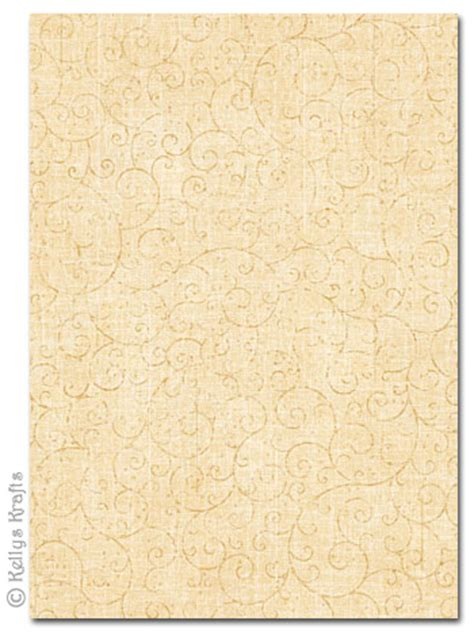patterned card cream scrollswirl design  sheet