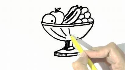 Fruit Bowl Draw Easy Steps Beginners Children