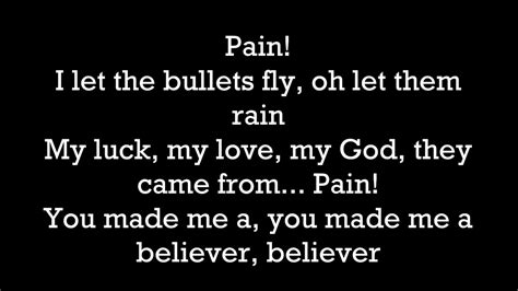 Imagine Dragons  Believer Lyrics Youtube