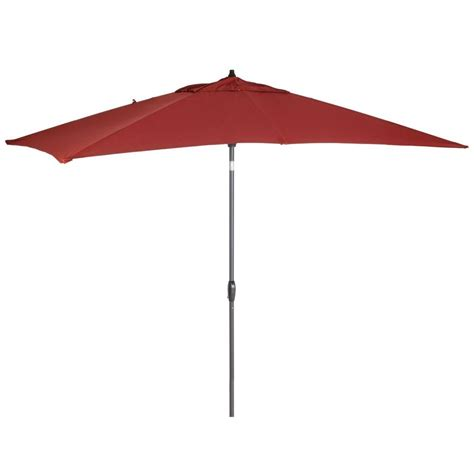 hton bay patio umbrella with solar lights hton bay 9 ft rectangular aluminum solar patio