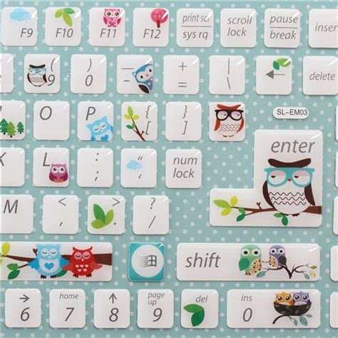 solde pc bureau autocollants pour touches de clavier d 39 ordinateur kawaii