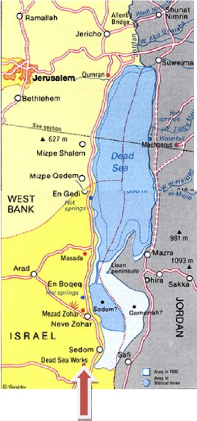 map   dead sea area  scientific diagram