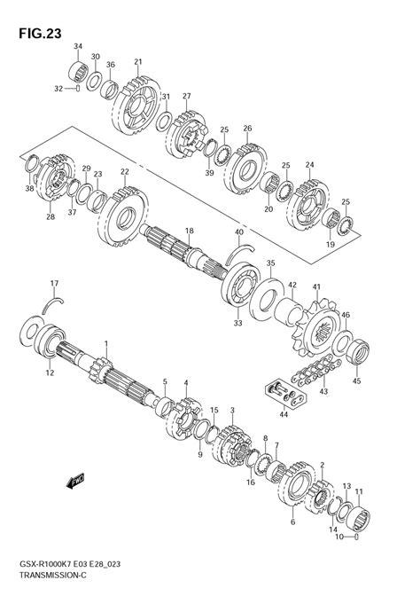 gsxr  transmission diagram sportbikesnet