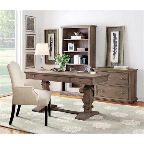 gray office desk home decorators collection aldridge antique grey desk with