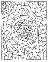 Coloring Pages Abstract Crochet Printable Glass Adults Stained Geometric There sketch template