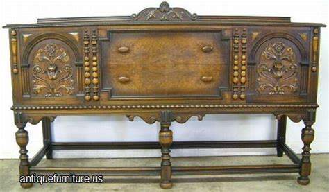 walnut berkey gay sideboard  florial carving image